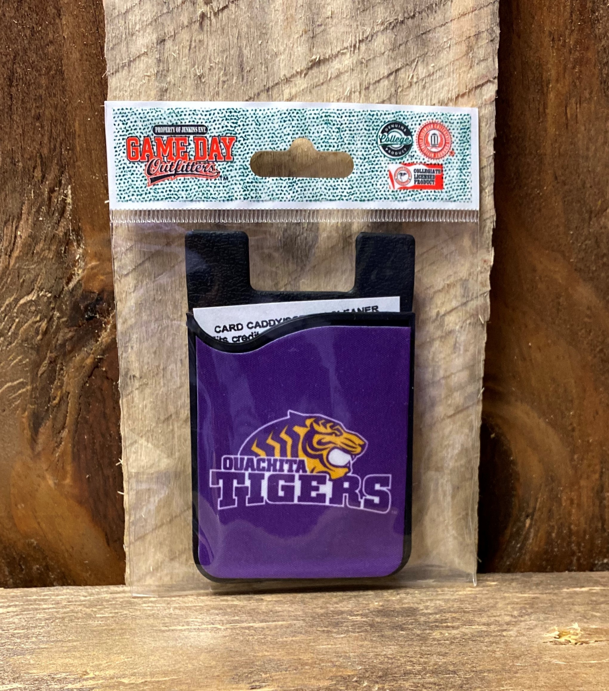 OUACHITA TIGERS CELL PHONE CARD HOLDER W/ SCREEN CLEANER