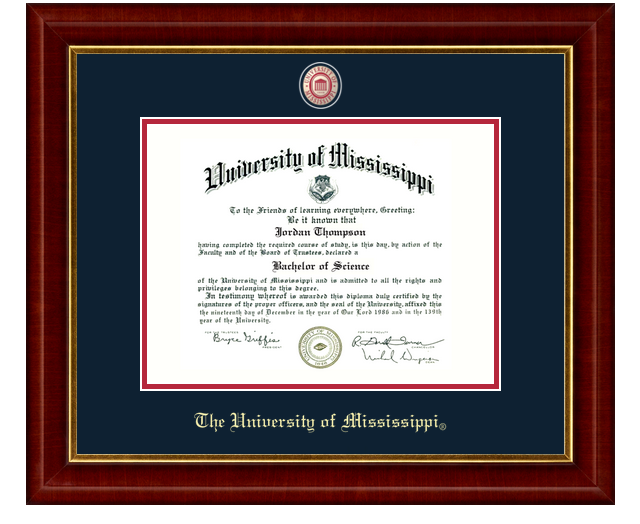 Masterpiece Medallion Diploma Frame
