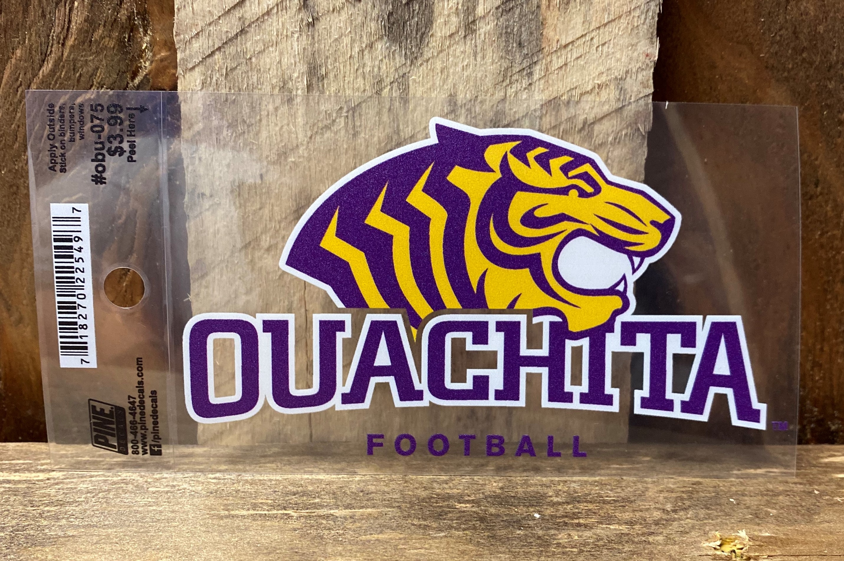 OUACHITA FOOTBALL CAR DECAL