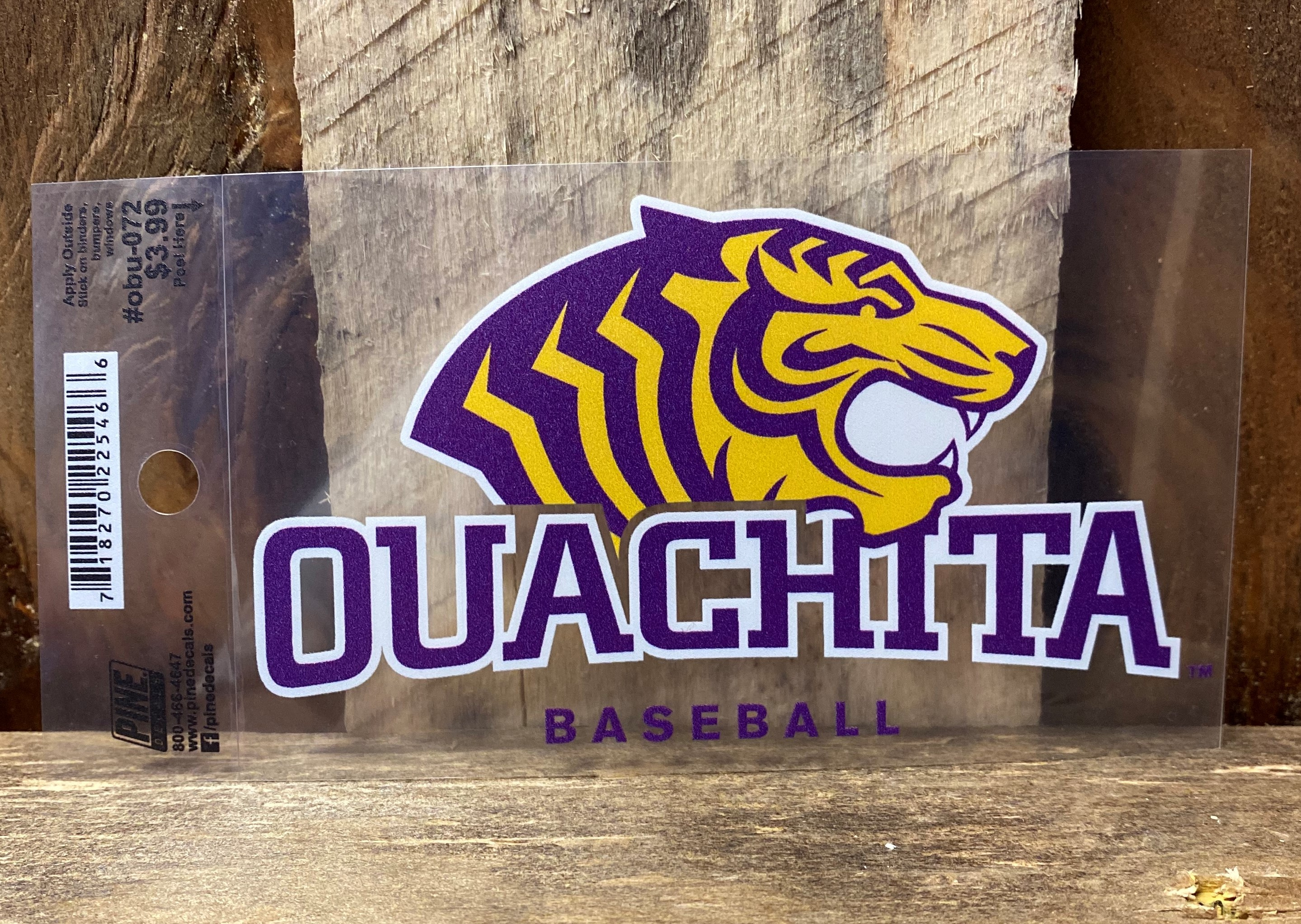 OUACHITA BASEBALL CAR DECAL