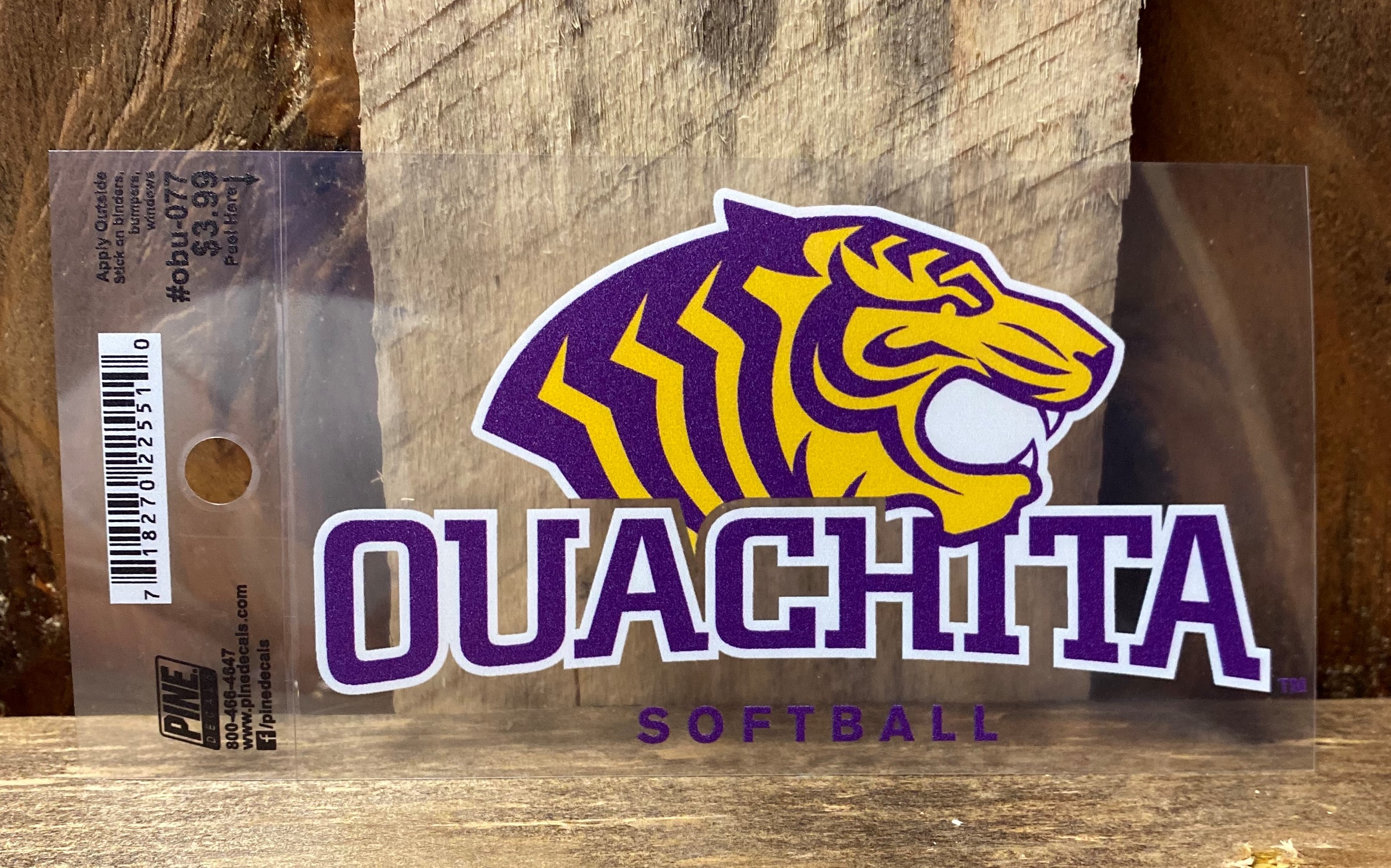 OUACHITA SOFTBALL CAR DECAL