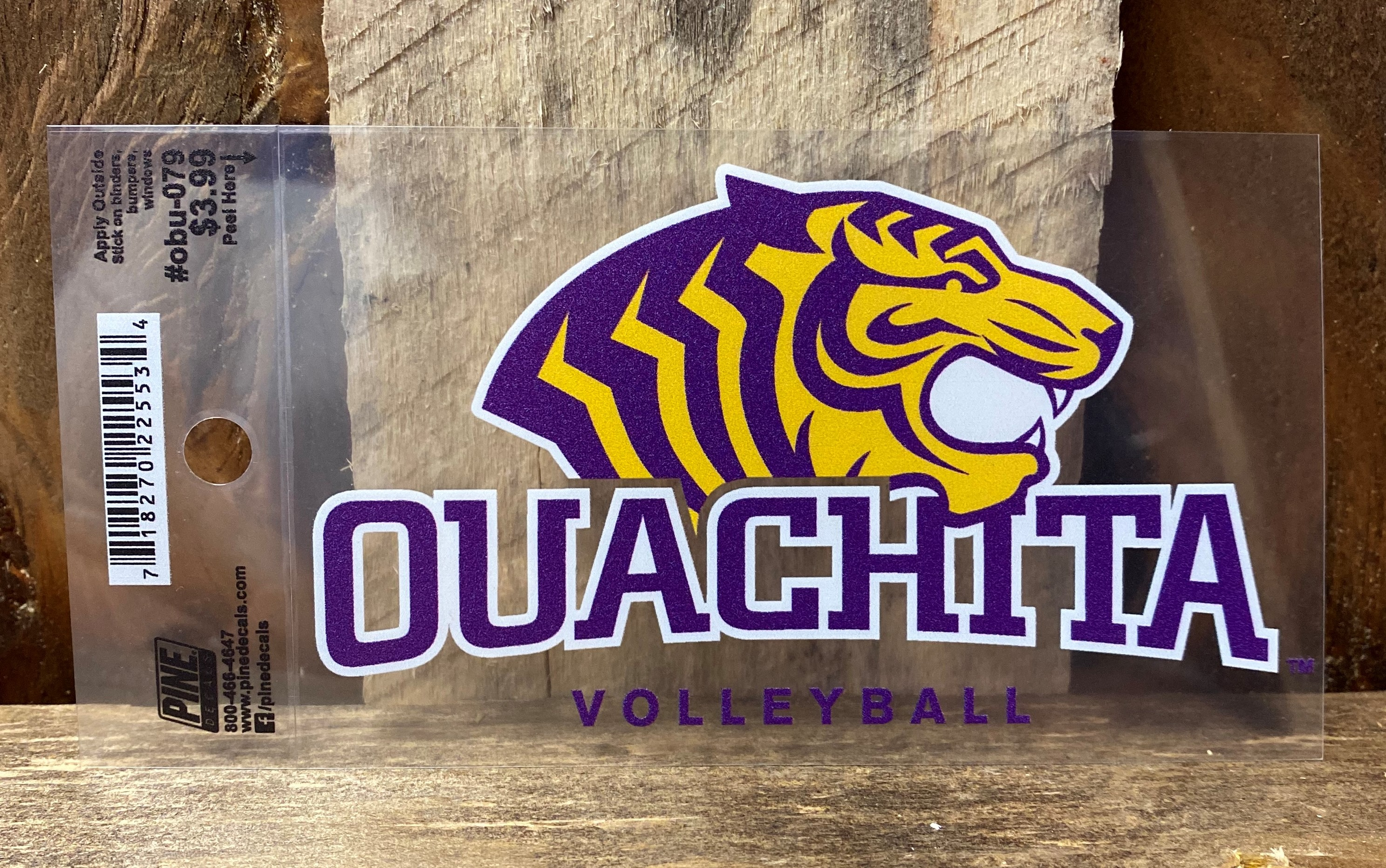 OUACHITA VOLLEYBALL CAR DECAL