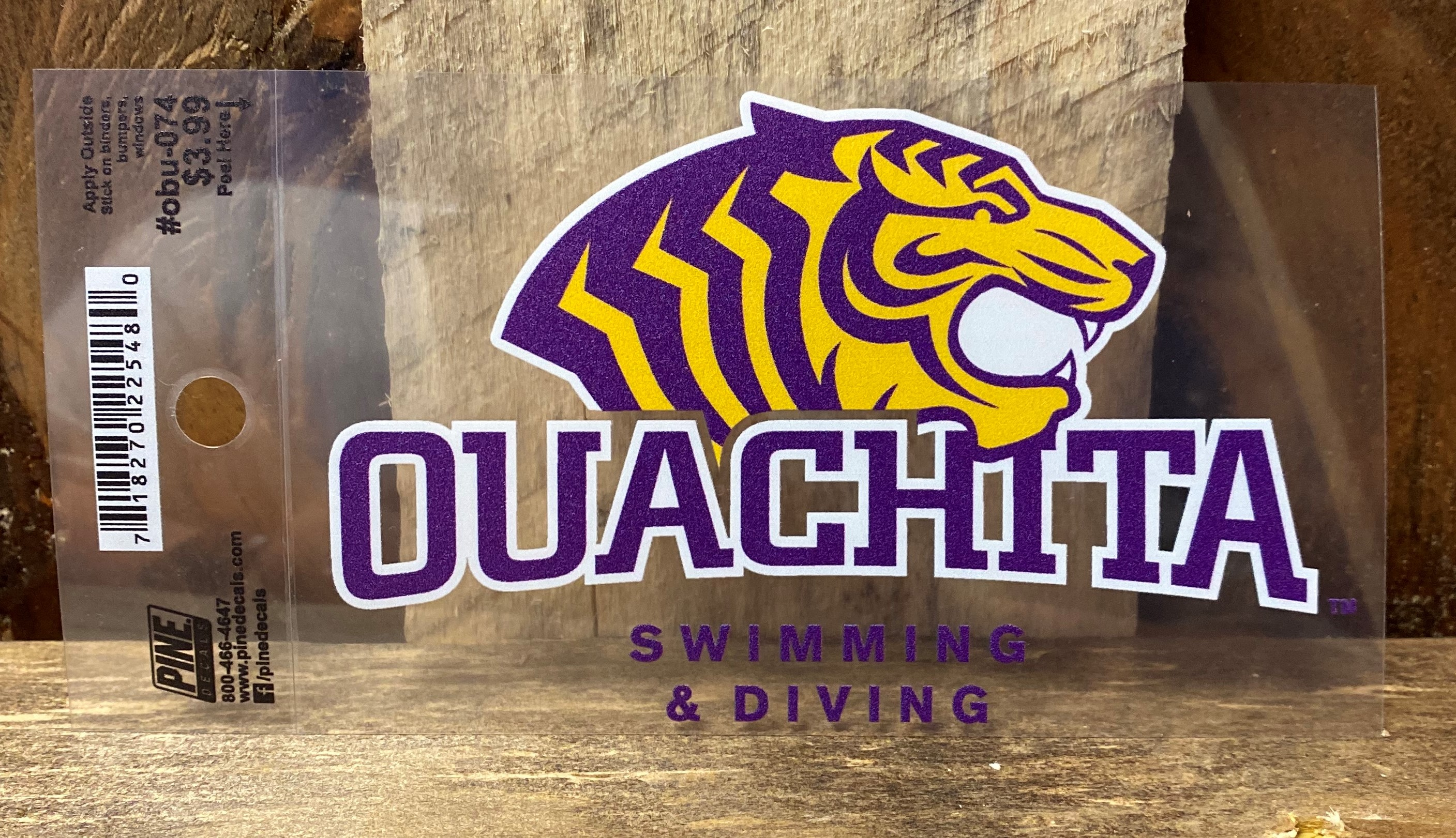 OUACHITA SWIMMING AND DIVING CAR DECAL