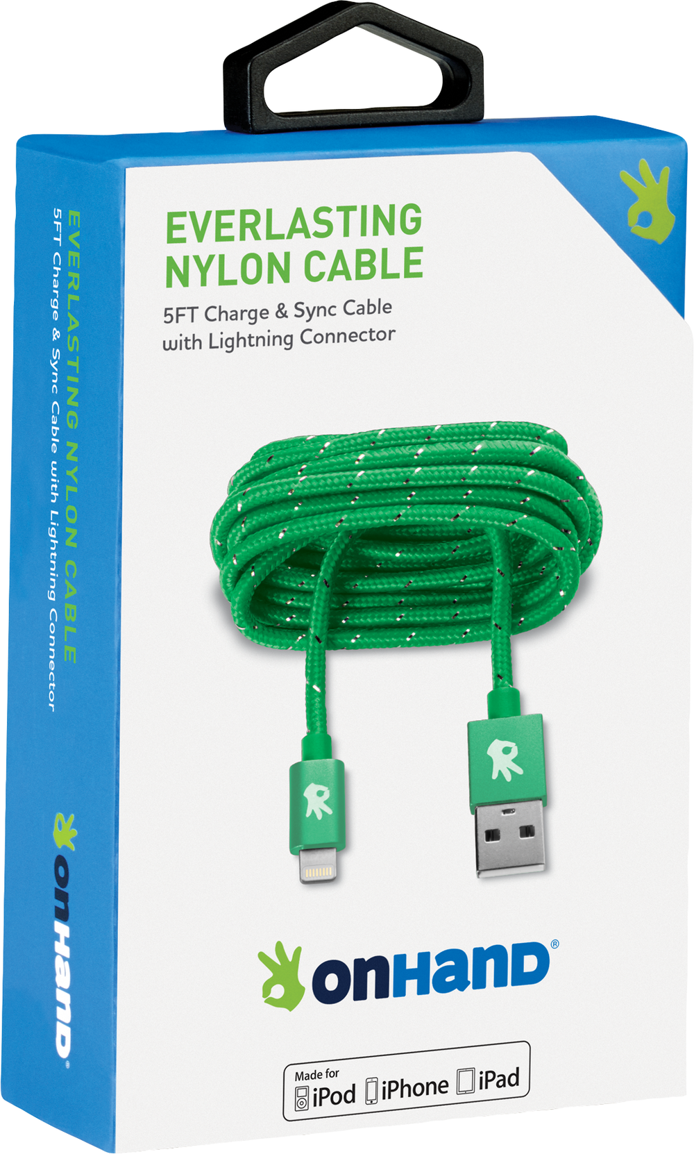 OnHand Everlasting Nylon Cable for iPhone
