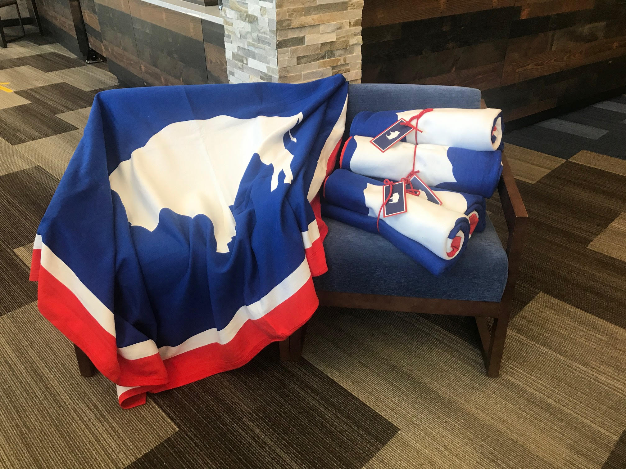 Wyoming State Flag Blanket