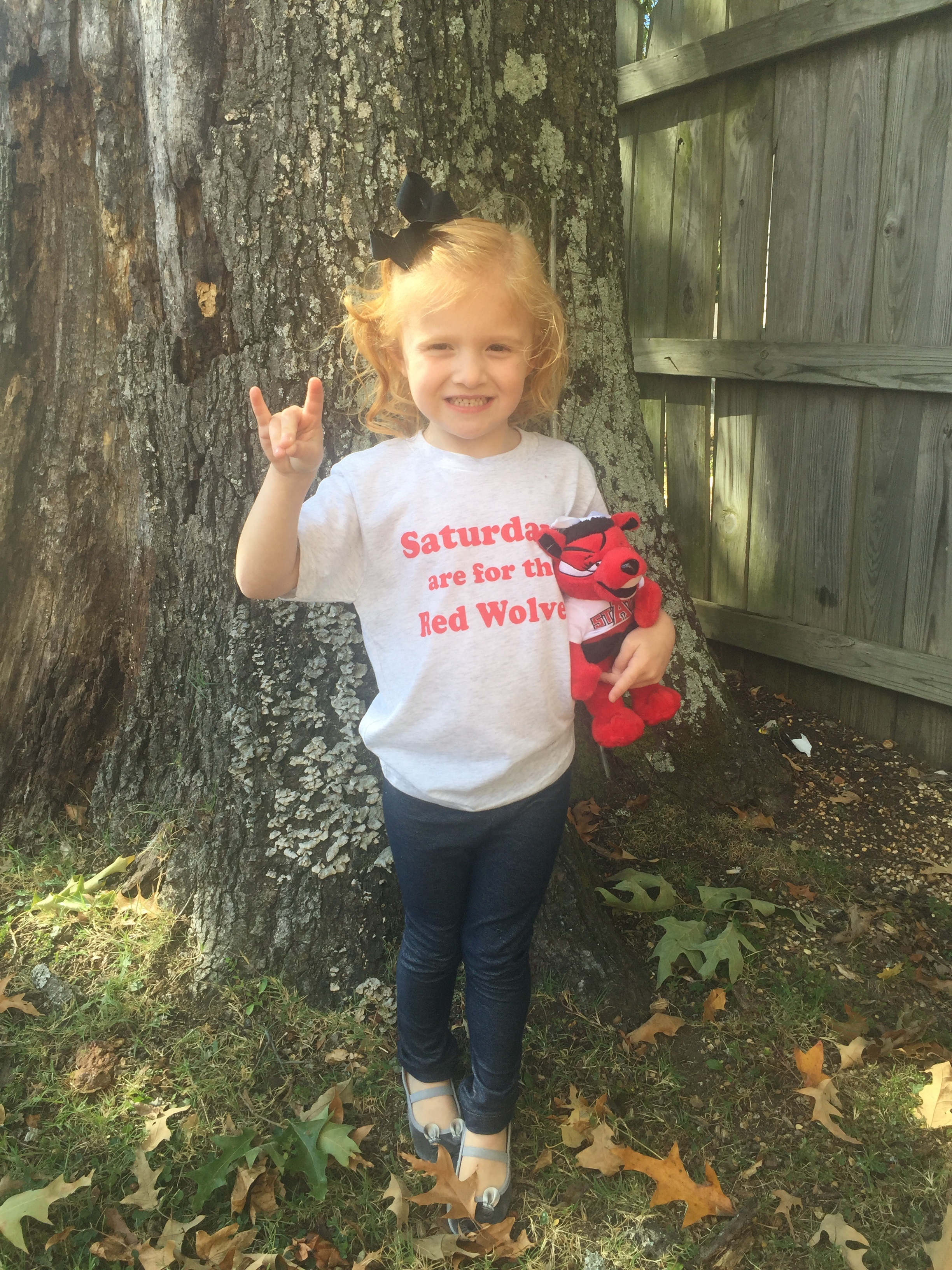 Saturday's Are For the Red Wolves Youth Tee