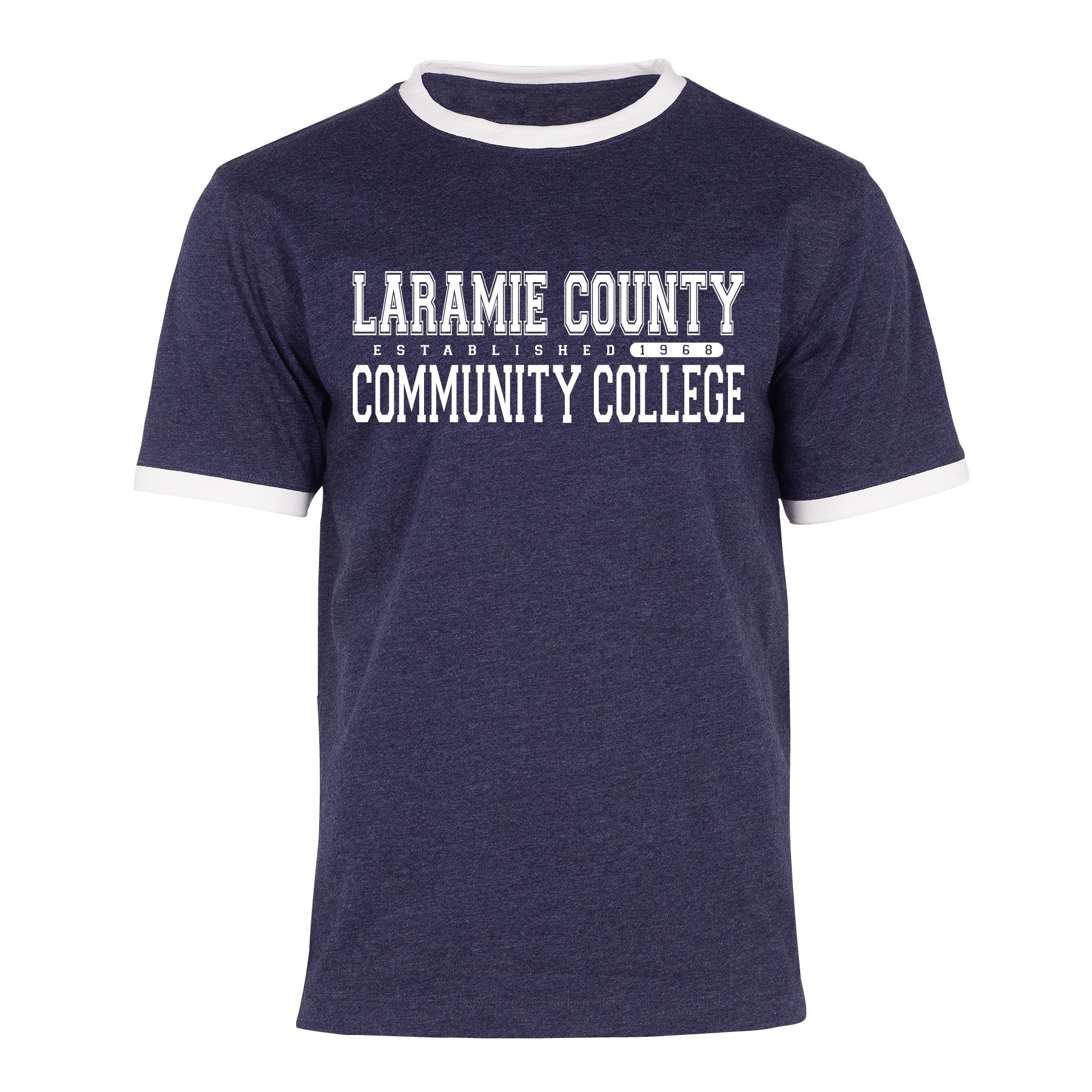 Laramie County Community College Ringer Tee