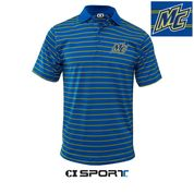 Royal Gold MC Striped Polo