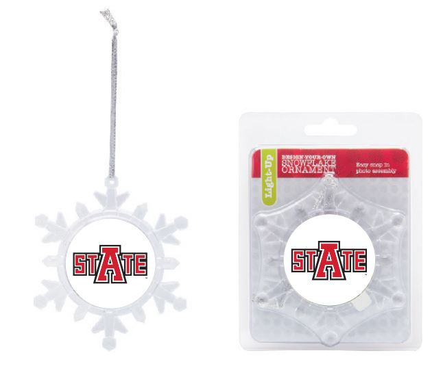 Arkansas State Light Up Snowflake Ornament