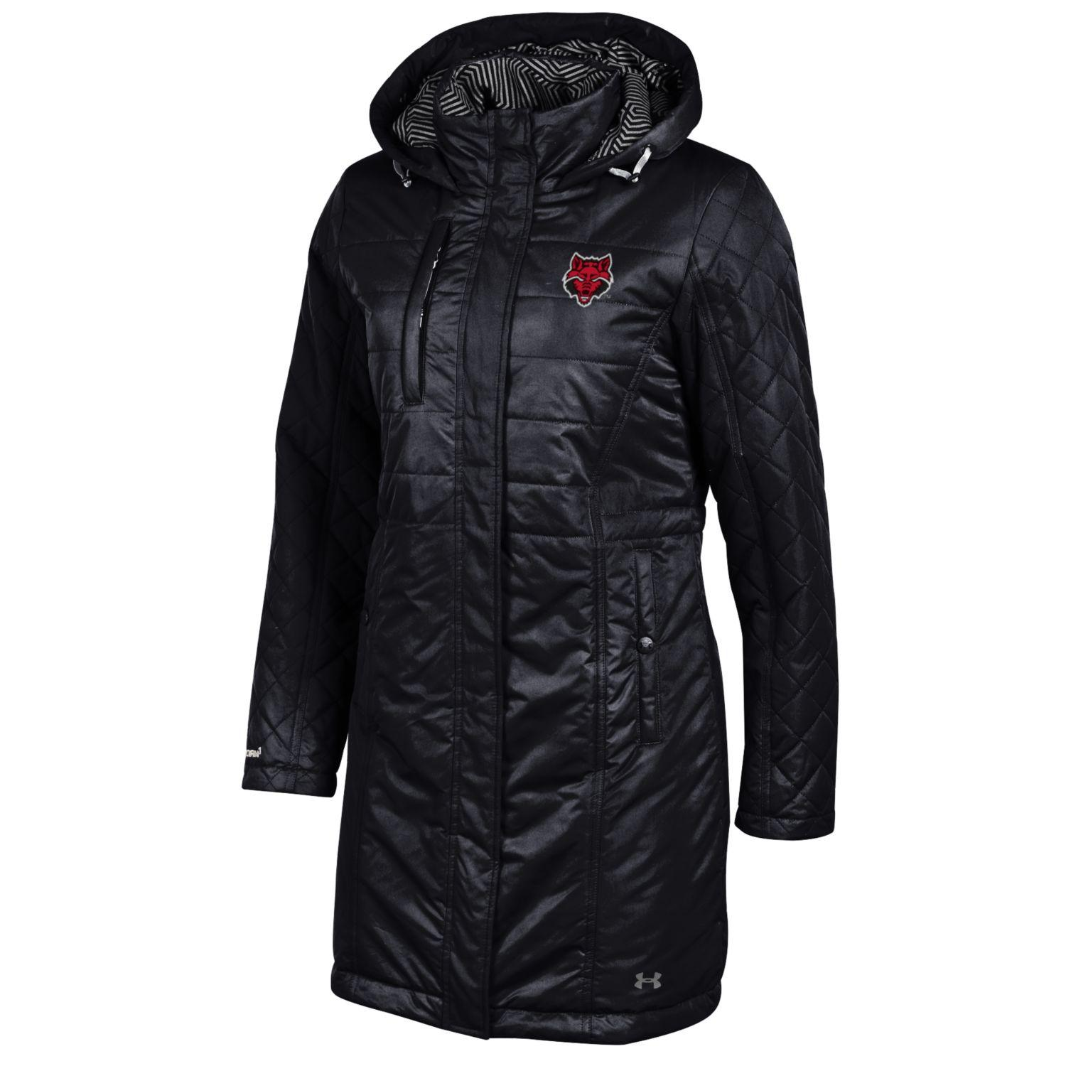 Red Wolves Puffer Parka Jacket
