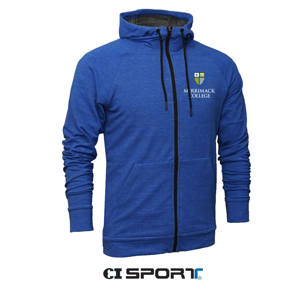 Heather Royal MC Tri-Blend Full Zip Jacket