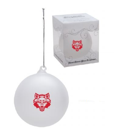 Red Wolves Frosted Glass Ornament