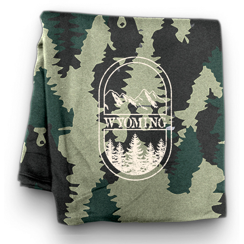 Wyoming Sweatshirt Blanket