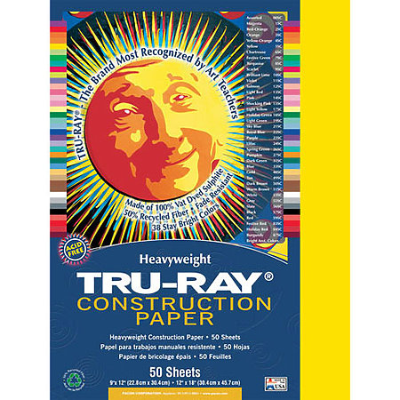 Tru-Ray Construction Paper 50 Sheets