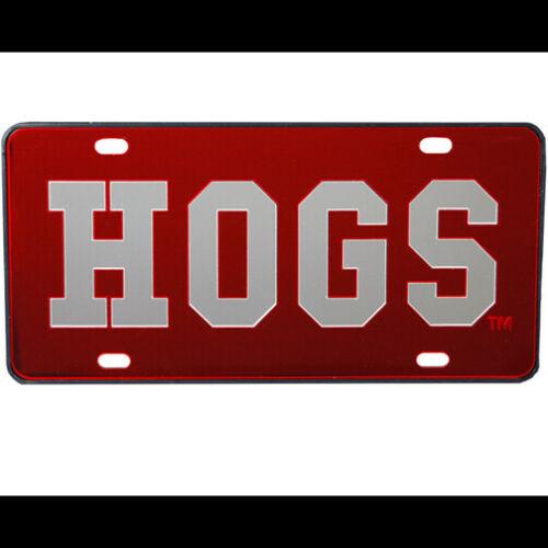 UA Car Tag Mirrored Red HOGS