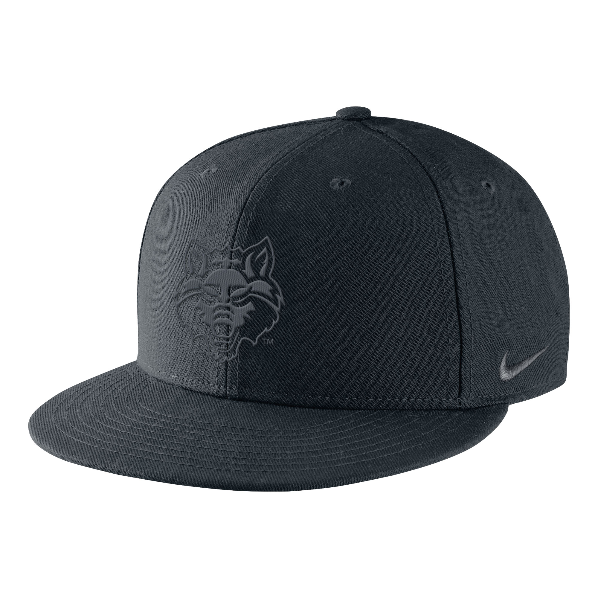 Red Wolves Black Core Flat Bill Cap
