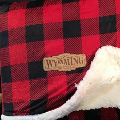 Buffalo Plaid Mink Sherpa Blanket