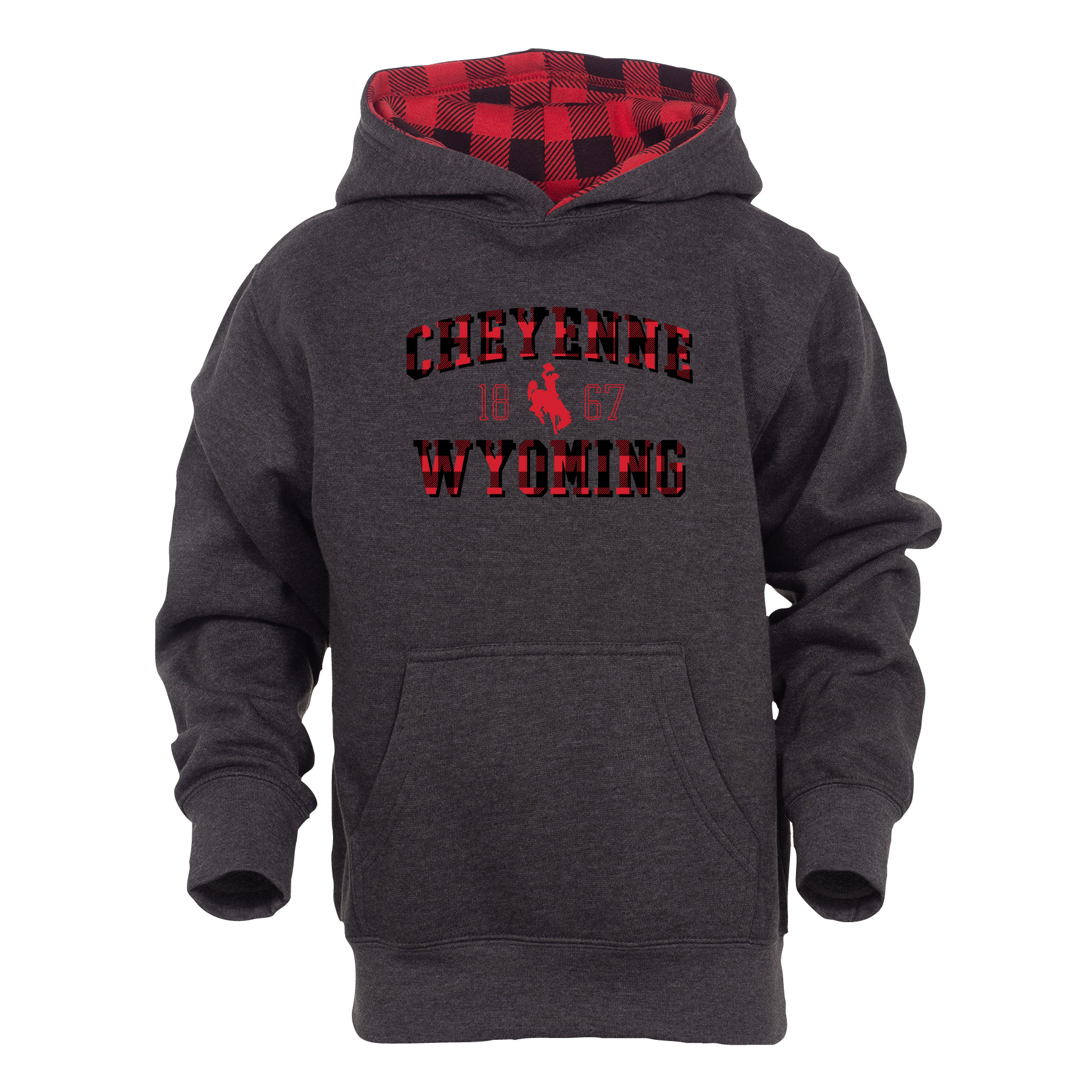 Youth Buffalo Plaid Mini Me Hoodie