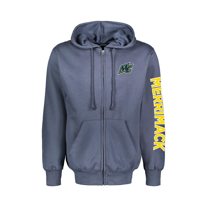 MC Lake Blue Full Zip w/Flock Patch Lettering
