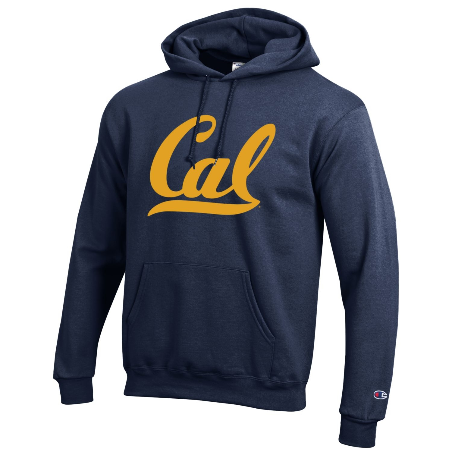 University of California Berkeley Powerblend Fleece Hood Cal Logo by Champion