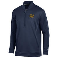 University of California Berkeley Champion Mens Cool Down Coaches Collar 1/4 Zip