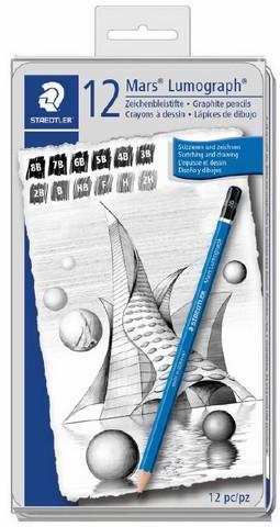 Mars Lumograph Sketching Pencil Set 12 Piece