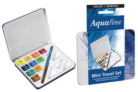 Aquafine Mini Watercolor Travel Tin