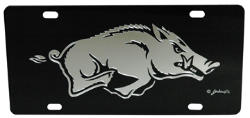 Black Mirrored Razorback License Plate