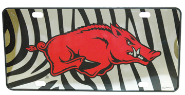 U-AR CAR TAG MIRRORED ZEBRA