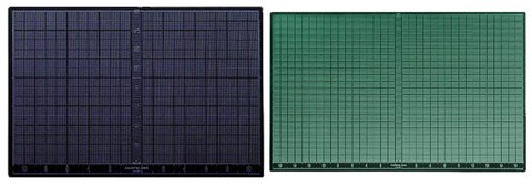 Self Healing Cutting Mat Green and Black 12x18