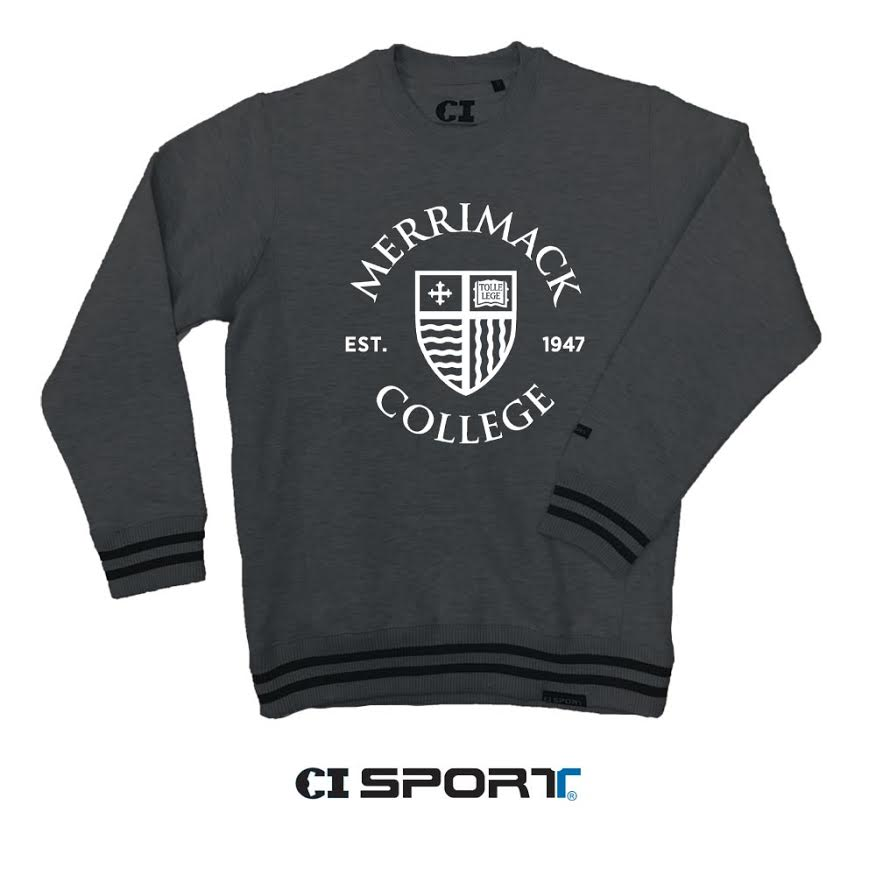 Stripped Banded Cuff Mascot Varsity Classic Crew