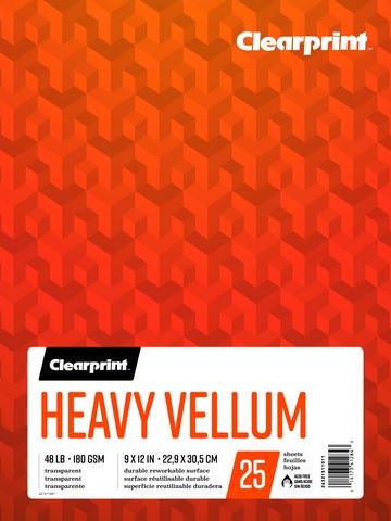 "Heavy Vellum Pad 9"" x 12"""