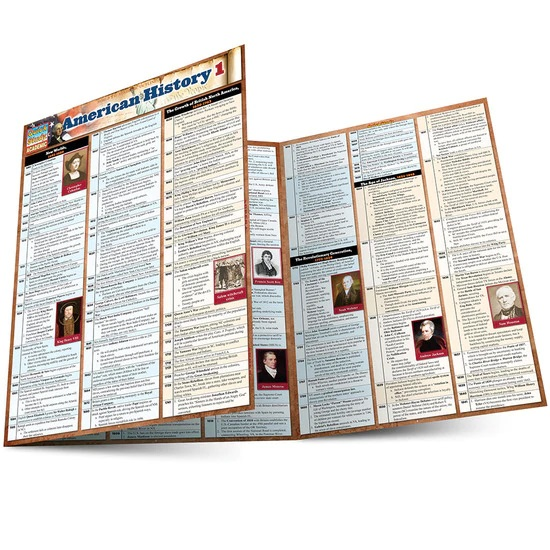 QuickStudy American History 1 Laminated Study Guide