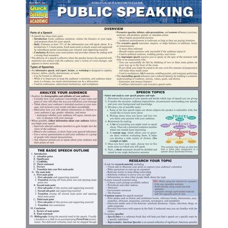 Public Speaking Barchart