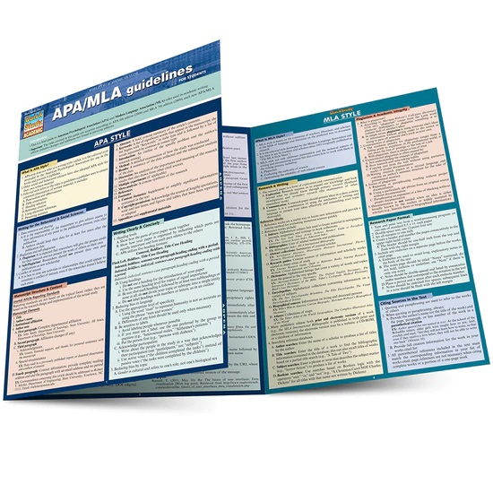 QuickStudy APA/MLA Guidelines Laminated Study Guide