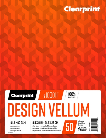 Clearprint Design Vellum 50 Sheet Pad 8.5x11