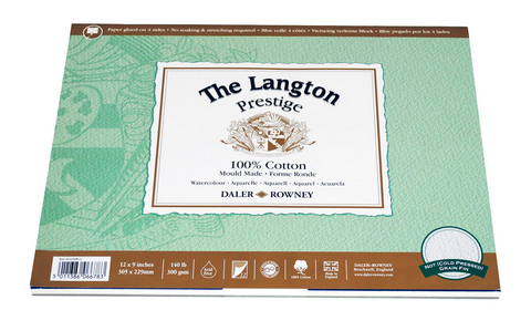 "Langton Prestige Watercolor Pad 12"" x 9"""