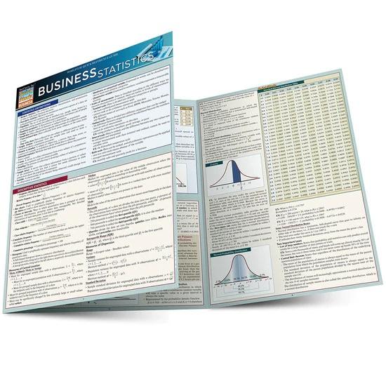 QuickStudy Business Statistics Laminated Study Guide
