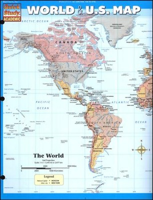 World & U.S. Map
