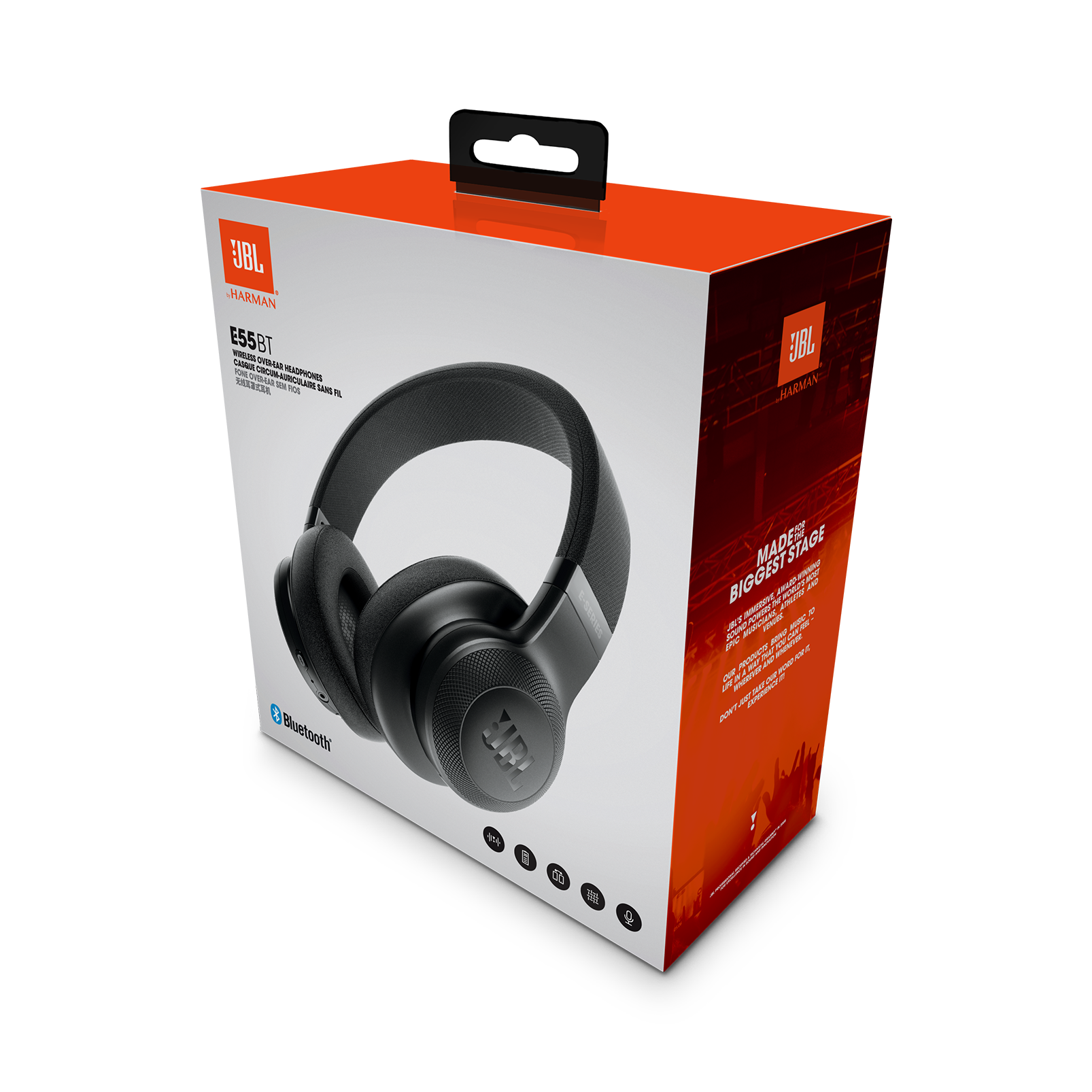 JBL E55 Wireless Over-Ear Headphones