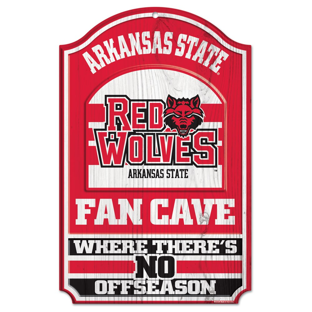 Red Wolves Fan Cave Sign