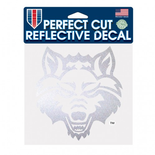 Red Wolves 6x6 Reflective Decal
