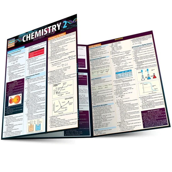 QuickStudy | Chemistry 2 Laminated Study Guide