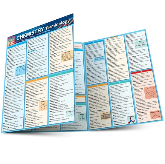 QuickStudy Chemistry Terminology Laminated Study Guide