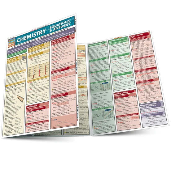 QuickStudy Chemistry: Equations & Answers Laminated Study Guide