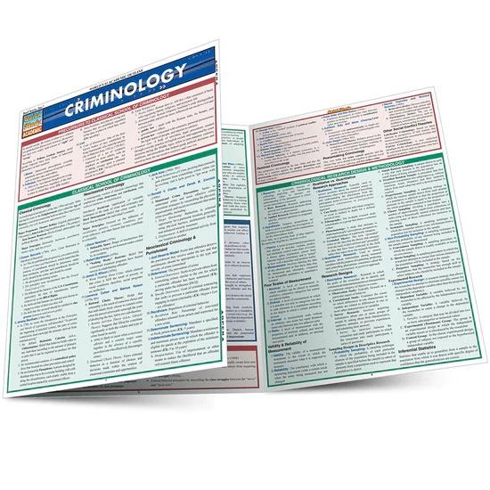 QuickStudy Criminology Laminated Study Guide