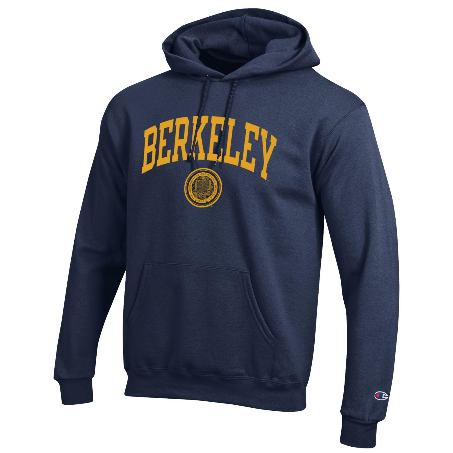 University of California Berkeley Seal Powerblend Fleece Hood by Champion