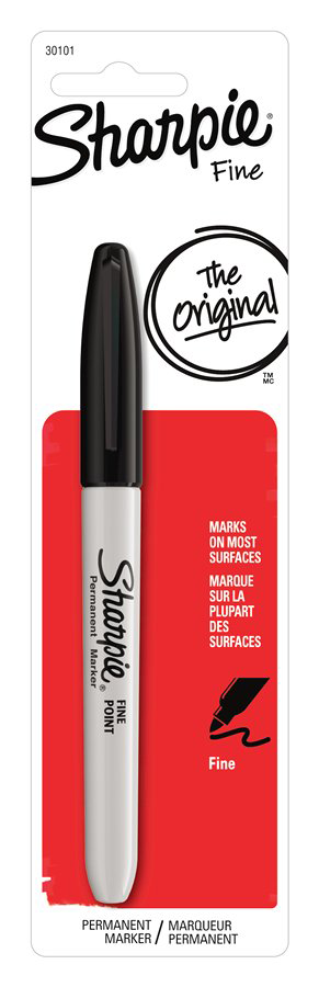 Sharpie Permanent Marker - Black Fine 1Pk BP