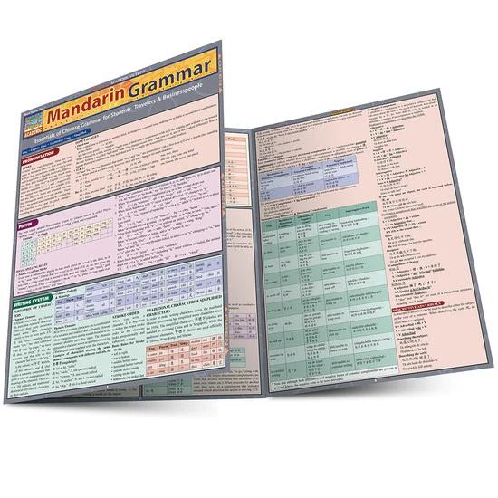 QuickStudy Mandarin Grammar Laminated Study Guide