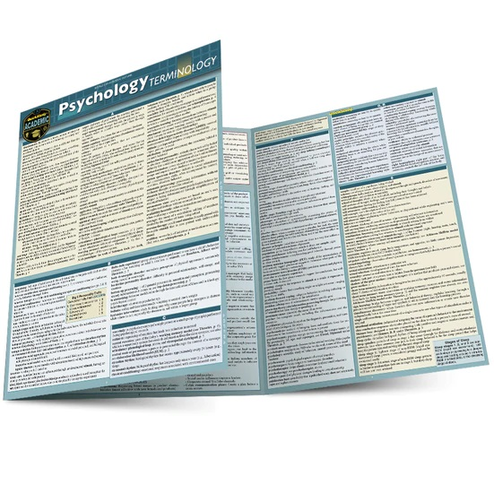 QuickStudy | Psychology Terminology Laminated Study Guide